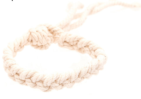 A14217 Woven Rope Anklet Natural 12 Pcs Pack Unit