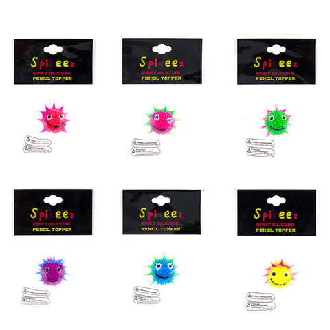 AA133PT-4 Spiky Happy Face Pencil Pen Topper - 12 Pcs Pack Unit