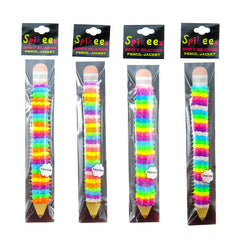AA139TPCX Glow In The Dark Striped/Spiral Spiky Pencil Pen Jackets Tub - 24 pcs Tub