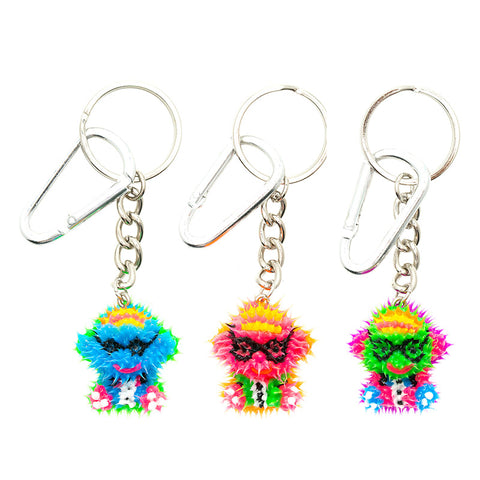 AA137KR-3 Spikeez Monkey Critter Key Ring Charm - 12 Pcs Pack Unit