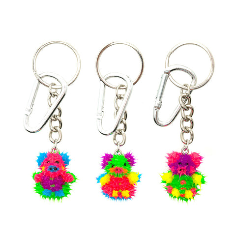AA137KR-4 Spikeez Piggy Critter Key Ring Charm - 12 Pcs Pack Unit