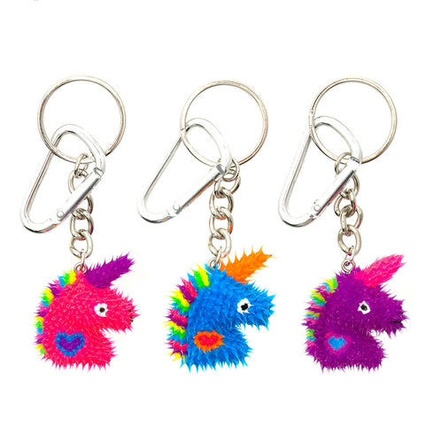 AA137KR-8 Spikeez Unicorn Critter Key Ring Charm - 12 Pcs Pack Unit