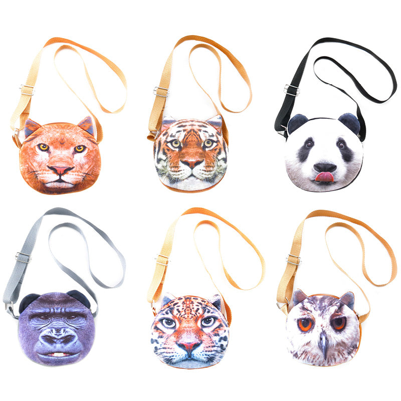 AA502PU-1X Photo Real Wild Life Cross - Body Bags - 6 Pcs Pack Unit