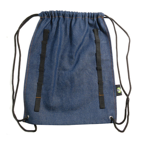 AA503PU Denim Backpack With Charm Loops - 6 Pcs Pack Unit