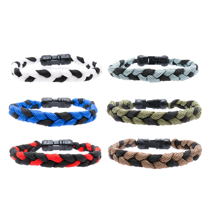 BLC1136B-2T 2 Tone Sporty Paracord Bracelet - 12 pcs Pack Unit