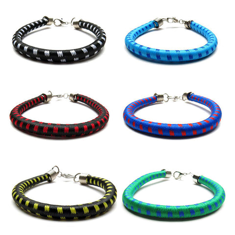 BLC1178B 6mm Print Bungee Bracelet For Boys - 12 Pc Pack Unit