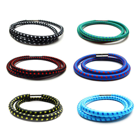 BLC1180B-M Wrap Around Bungee Magnet Bracelet For Boys - 12 Pc Pack Unit