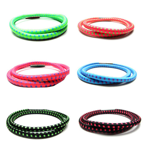 BLC1183B-G Wrap around Print Bungee Magnet Bracelet For Girls - 12 Pc Pack Unit