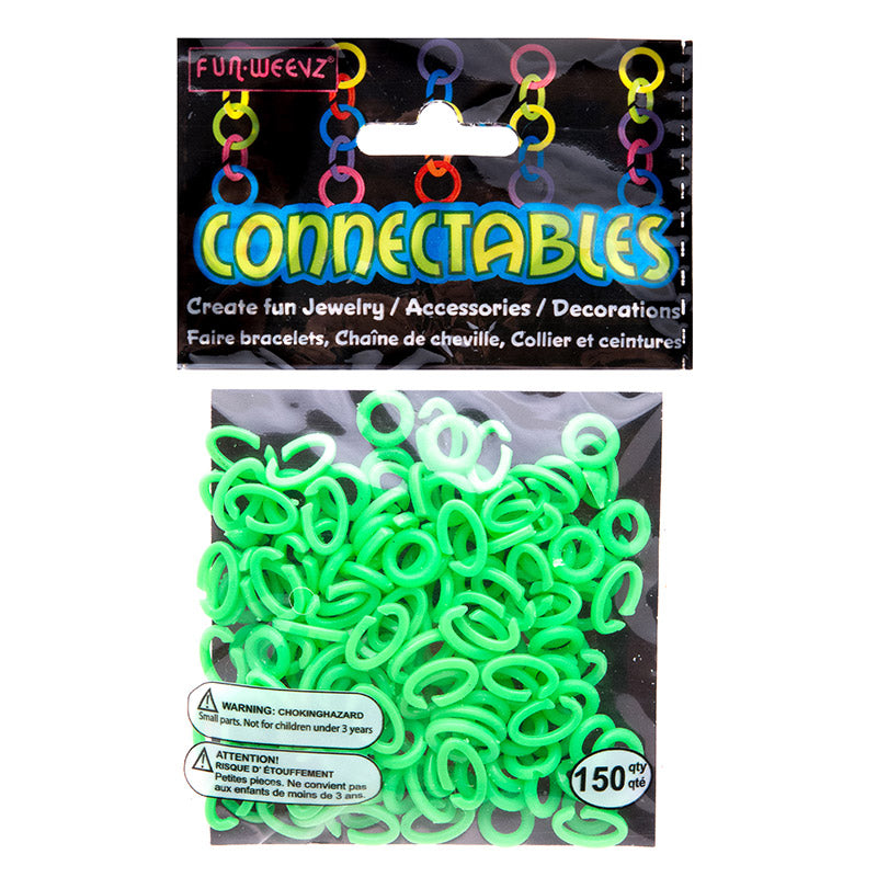 CN501KB4 Neon Green Small Connectables Do it Yourself Kit - 12 kits Pack Unit