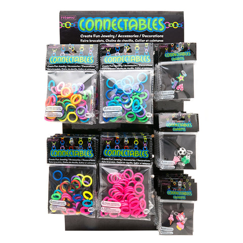 Fun weevz jewelry and kits collection for kids teens and tweens cn602dkx large assorted connectables and charms do it yourself kits display 60 pc display solutioingenieria Choice Image