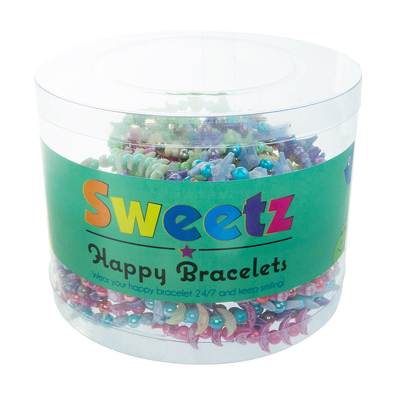 CRB2246TB Sweetz happy beads stretch bracelets tub