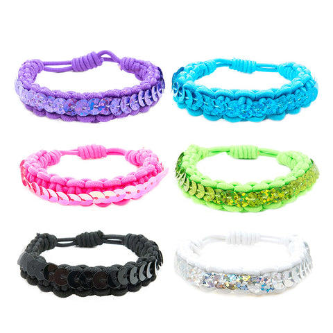 CRC1420B Stretch Bracelets with Sequins - 12 pc Pack Unit