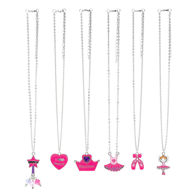 CRM2086N Dance Fun Silver Chain Necklace - 12 Pc Pack Unit