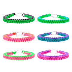 CRP1670TBX Round and Square Crafty Gimp Braid Bracelet Tub - 48 pcs Tub