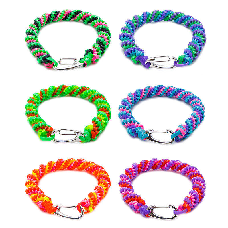 CRP1785B 10mm Spiral Crafty Funkeez Braid Bracelet - 12 Pcs Pack Unit