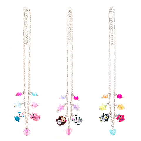 CRP1992N Glitter Critters Charm Chain Necklace - 12 Pc Pack Unit