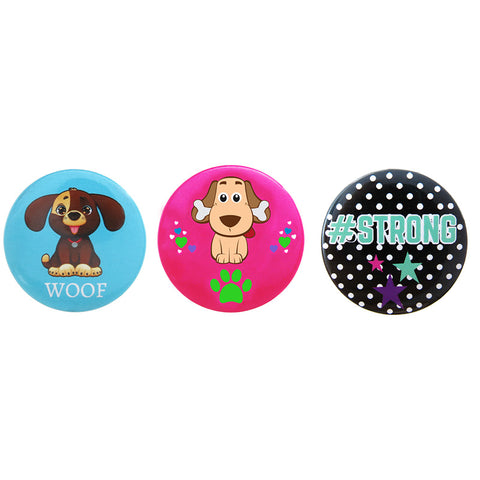 DP1050P-1 Trio Puppy Critter Deco Button Pins 3 Sets Pack Unit