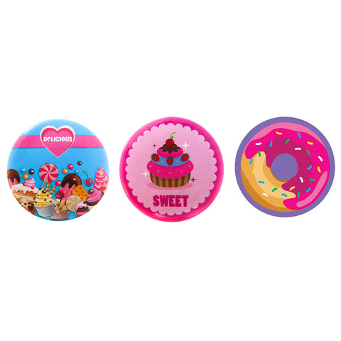 DP1070P-1 Trio Sweet Deco Button Pins 3 Sets Pack Unit