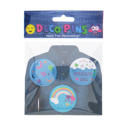 DP1360P-1 Trio Dream Deco Button Pins 3 Sets Pack Unit