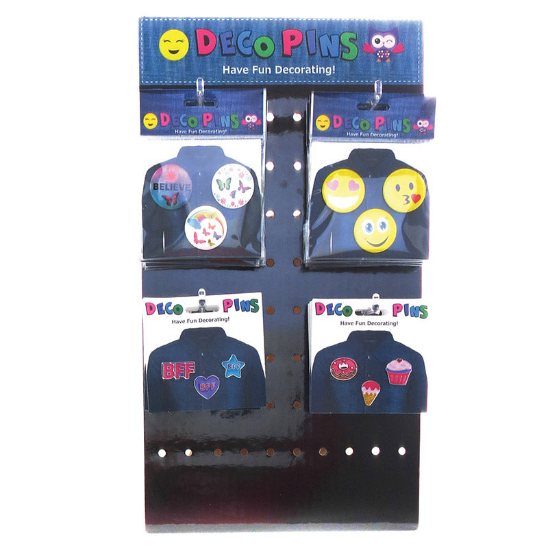 DP2001DP  Deco Button Pins And Tack Pins Easel 66 Sets - Value Display