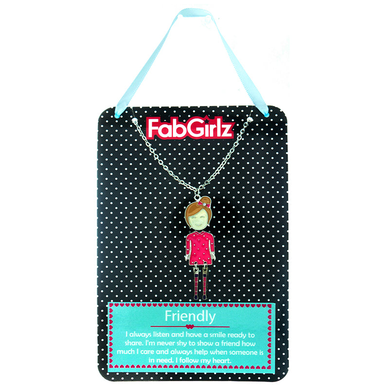 "FG103N ""Friendly"" FabGirlz Collectible Movable Pendant Necklace"