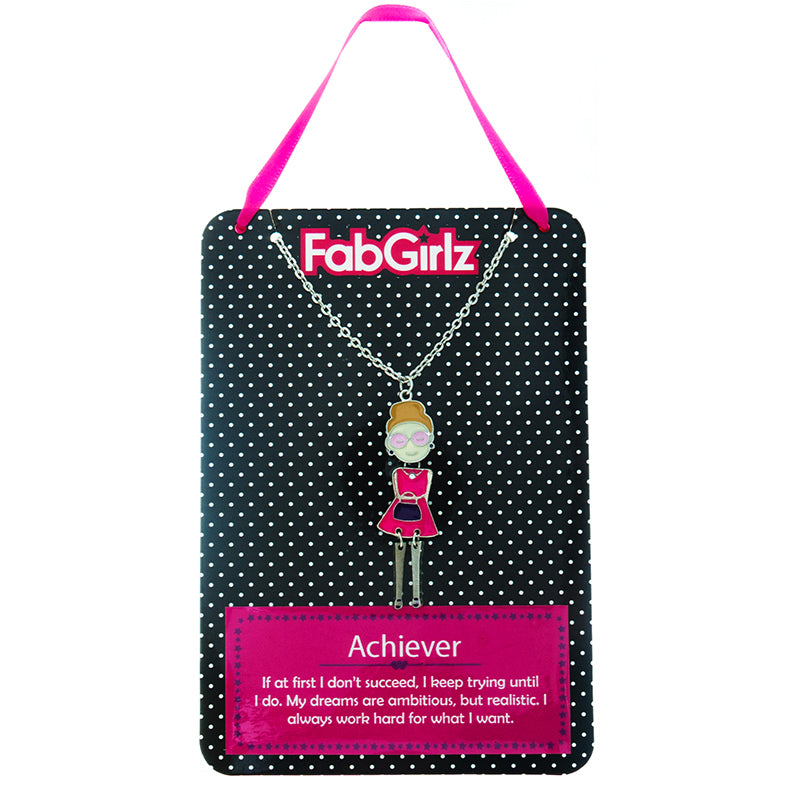 "FG108N ""Achiever"" FabGirlz Collectible Movable Pendant Necklace"