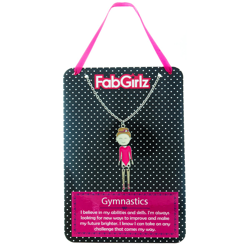 "FG113N ""Gymnastics"" FabGirlz Collectible Movable Pendant Necklace"