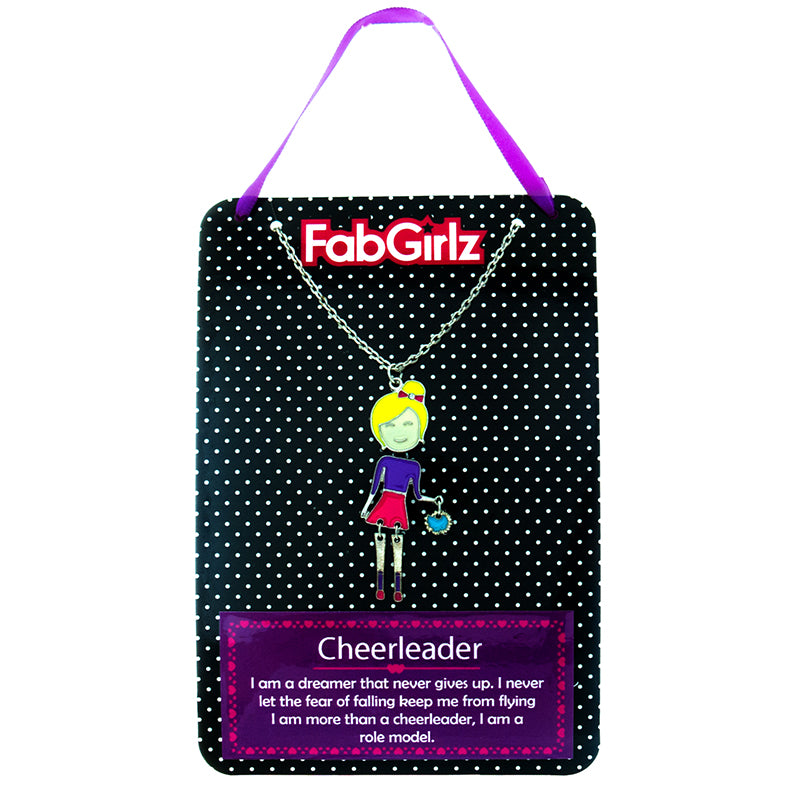 "FG116N ""Cheerleader"" FabGirlz Collectible Movable Pendant Necklace"