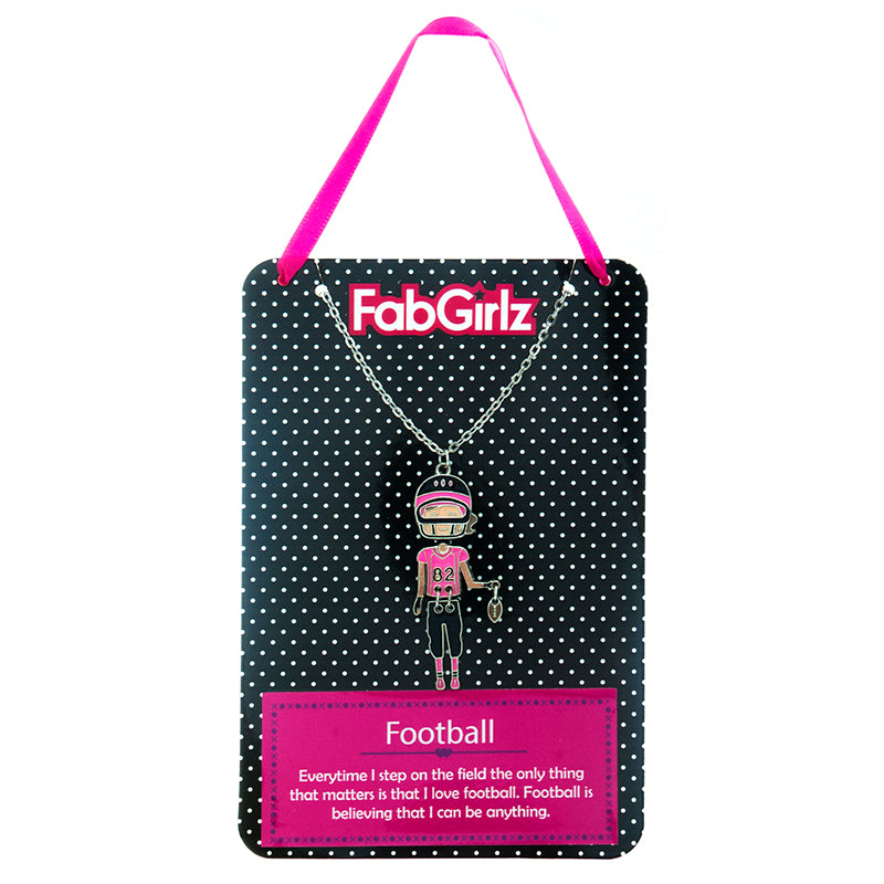 "FG118N ""Football"" FabGirlz Collectible Movable Pendant Necklace"