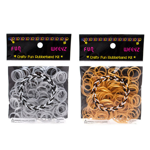 FW217K Fun Weevz Silver Gold Rubber Bands - 12 Pcs Pack Unit