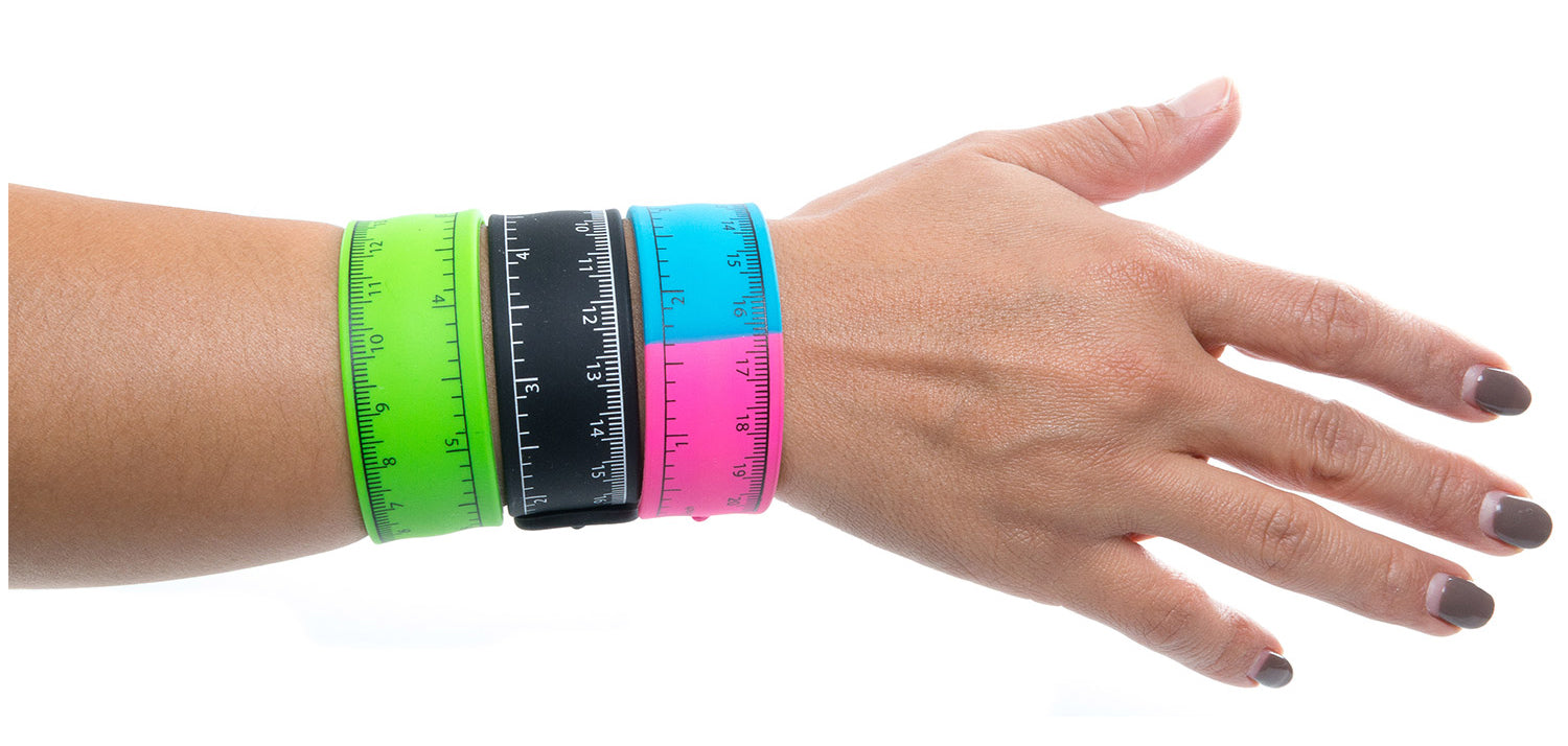 Frogsac 12 Pcs Ruler Silicone Slap Bracelet - Top Quality Great Party Favors