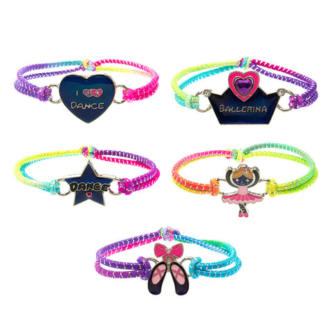 MD350B Mood Multi Lurex Dance Stretch Bracelet -12 Pc Pack Unit