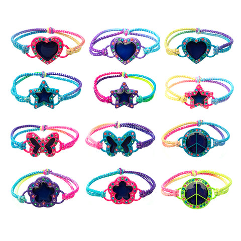 MD346B Mood Bling Neon Icons Stretch Bracelet -12 Pc Pack Unit