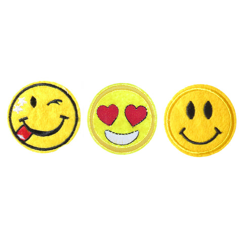 PA2150C-1 DIY Iron-On patches Wink, Heart Eye, Smiley Emoji  6 Pcs Pack Unit