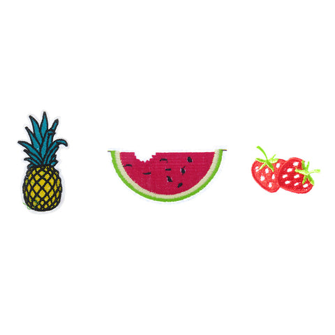 PA2200C-1 DIY Iron-On patches Pineapple, Water Melon, Strawberry 6 Pcs Pack Unit