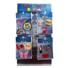 PA3001DC DIY Iron-On Patches Display 72 Sets - Value Display