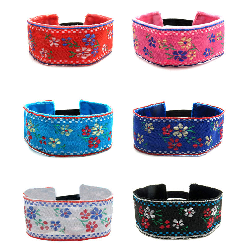 RFC1180B Bohemian Embroidered Floral Bracelet - 12 Pc Pack Unit