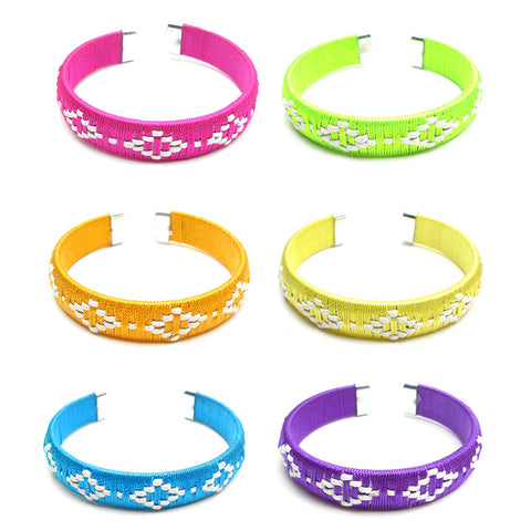 RFC904B Woven Cord Bangle - 12 Pc Pack Unit