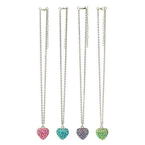 RFP1566N Bling Heart Chain Necklace - 12 Pc Pack Unit
