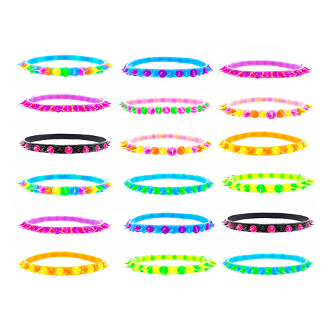 SIL1068BX3 Spiky Bangle Trio - 12 Trios Pack Unit