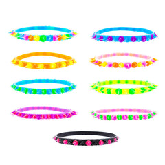 SIL1068B Spiky Silicone Bangle - 12 pcs Pack Unit or 72 Pc Tub