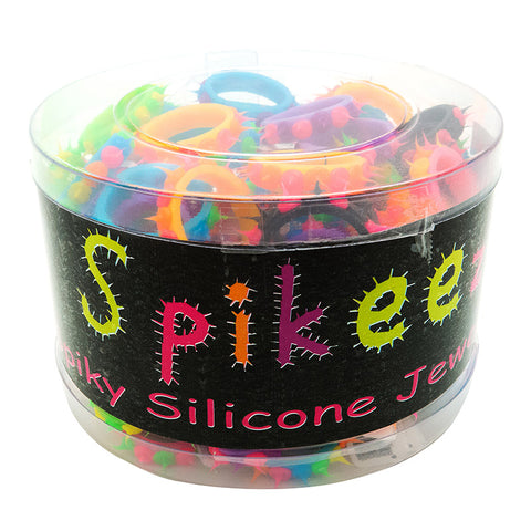 SIL1068R Spiky Silicone Rings
