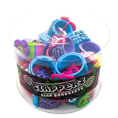 SIL1143B 3D Charm Silicone Slap Bracelet - 12 pcs Pack Unit Or 36 pcs Tub