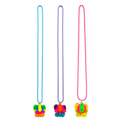 SIL1147N Critters Spiky Silicone Ball Chain Necklace - 12 Pc Pack Unit