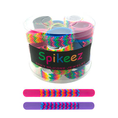 SIL1156B Spiky Silicone Slap Bracelets - 12 pcs pack or 30 pcs Tub