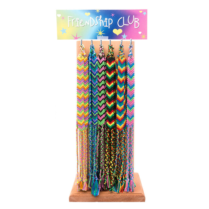 "CRC1366B ""V"" Design Friendship Braid Bracelet - 12 Sets Pack Unit Or 72 Pcs Display"