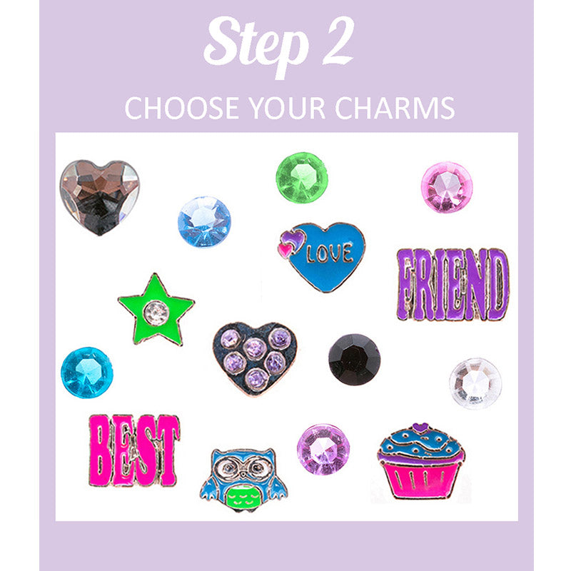 FP902C-2A Fantasy Locket set of 6 charms - 3 Sets Pack Unit