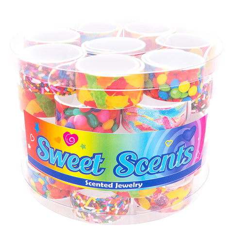 SIL1189B Photo Real Candy Scented Slap on Bracelet - 12 pcs Pack Unit Or 36 Pcs Tub