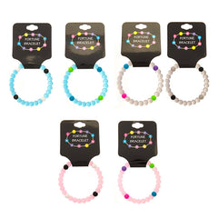 SIL1197B Silicone Fortune Bracelet - 12 Pc Pack Unit or 36 PC Tub