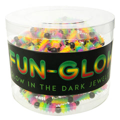 SIL1200B Spiky Glow In The Dark Silicone Multi Beaded Stretch Bracelets - 12 Pcs pack or 36 Pcs Tub